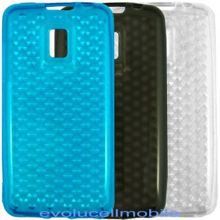 LG OPTIMUS 2X P990 Blue Black Clear cell phone cover case accessories