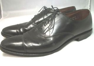 ALLEN EDMONDS PARK AVENUE MENS SIZE 11 AA CAP TOE OXFORDS FULL LEATHER