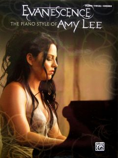 Evanesence Amy Lee Piano Styles Vocal Guitar Song Book Free 53 Musical