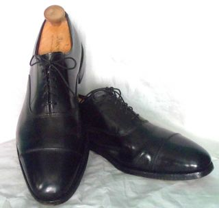 ALLEN EDMONDS Park Avenue Black Cap Toe Lace Up Oxford Dress Shoes 9 5