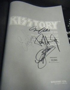 KISS KISSTORY SIGNED AUTOGRAPHED BOOK GENE SIMMONS PAUL STANLEY 2 MORE