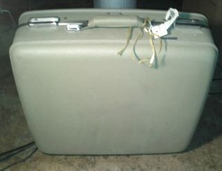 Vintage Retro American Tourister Luggage Large Suitcase Olive Green
