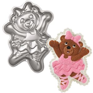 Ballerina Bear Cake Pan Girls Birthday Party Tin Baking Animal