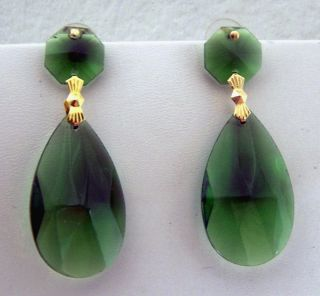 Angelina Halloween Costume Earrings Jolie the OScars Emerald Green and