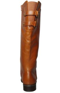 Anne Klein Womens Boots Keera Light Brown Leather Sz 9 5 M
