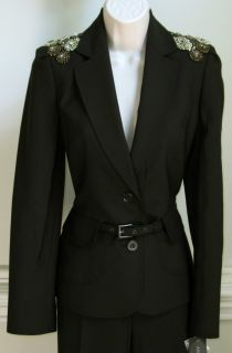 Anne Klein Womens Pant Suit Black New Discount