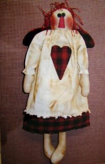 Doll Primitive Cloth Rag 17 Raggedy Ann Annie Angel Valentine