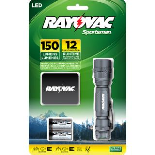 RAYOVAC SPORTSMAN LIGHTS, 150 LUMEN, LED TACTICAL FLASHLIGHT WITH