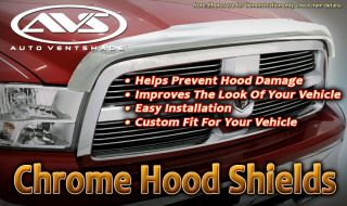 Deflector Shield 05 12 Nissan Armada AVS Chrome Hood Protector Guard