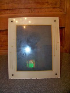 Antique Art Deco Reverse Painted Glass Large Picture Frame