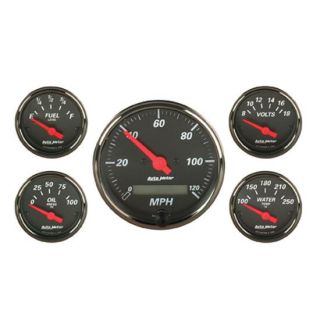 New Auto Meter Designer Black Series Electrical Gauge Set w/ Black