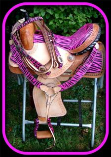 Show Saddle Western Barrel Racing Trail 4pc HSBP 15 16 17