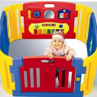 Baby Door Play Toddler Safety Secure Gate Yard Center