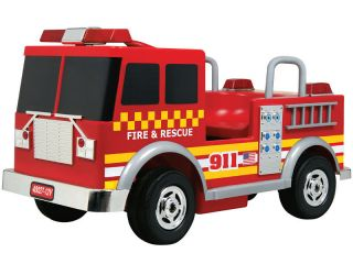 Kids Battery Powered Ride on Toy Red Fire Engine 12V
