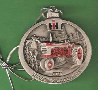 Case IH New 2008 Pewter Christmas Ornament
