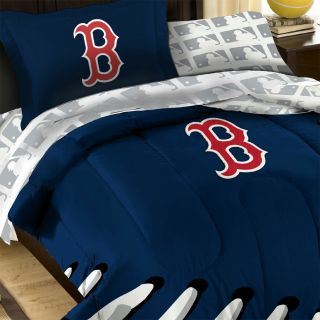 BOSTON RED SOX Baseball FULL BED IN BAG   MLB Laces Comforter Bedding