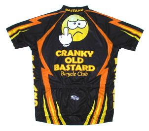 Cranky Old Bastard Bicycle Club Cycling Jersey Mens with Socks Bike