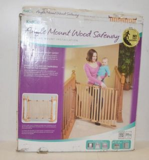 Kidco Angle Mount Wood Safeway Baby Infant Child Gate