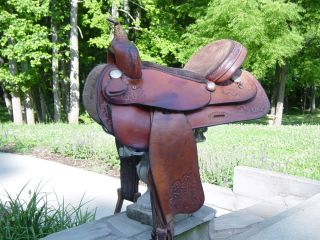 BARREL RACING SADDLE BY HORTON SADDLERY ALL LEATHER READY TO GO 15
