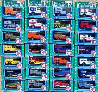 1990 Matchbox 1st Ed NFL Football Ford Truck Set All 28 Teams Steelers