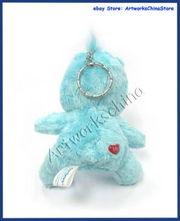 care bear bedtime plush key chain size approx 9 5cm tall material