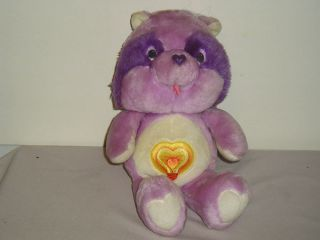 1984 Kenner Bright Heart Raccoon Care Bear Cousins Plush Animal