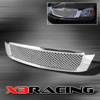 00 05 Cadillac DeVille Chrome Front Hood Mesh Grill Grille