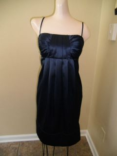 BCBG Paris Womens Sz 10 Dress NWT $138 Blue Satin Halter Stunning Year