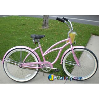 Beach Cruiser Bicycle bikes Firmstrong URBAN 26 Womens PINK with Alloy