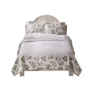 Simply Shabby Chic King Bedspread Blue Roses Flowers Floral Rachel