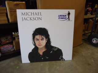 Michael Jackson Bad Lifesize Licensed Cardboard Standup Standee 1022