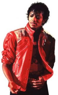 MICHAEL JACKSON MENS 80S RED BEAT IT JACKET COSTUME LICENSED