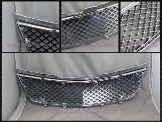 Chrome Bentley Style Mesh Front Hood Bumper Grill Grille ABS 00 05