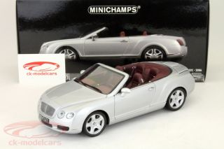 Bentley Continental GTC Convertible Silver 1 18 Minichamps