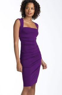 Nicole Miller Open Back Jersey Sheath Dress M $220