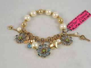 Betsey Johnson Iconic Springtime Bloom Stretch Bracelet