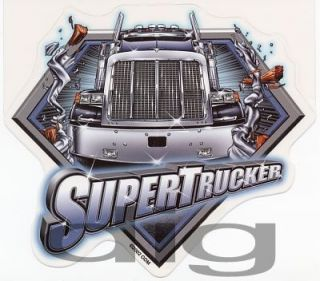 Super Trucker Big Rig Tractor Trailer Sticker Decal