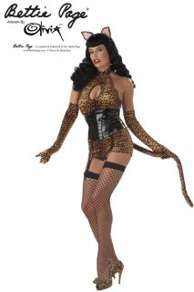 women sexy safari cattail bettie page halloween costume