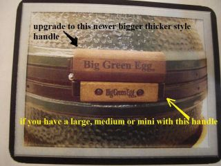 Big Green Egg BBQ replacement wood for handle Fits Large Medium Small