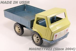 Steel Truck Old Big Russian Soviet Vintage RARE Tin Car Toy