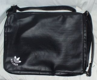 Vintage Adidas Rod Laver Black Soft Leather Tennis Bag