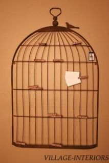 METAL BIRD CAGE WALL DECOR ; PHOTO MEMO HOLDER ORGANIZER BOARD / GREAT