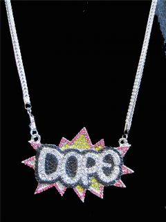 ICED OUT BIG SEAN KANYE WEST DOPE GRAFFITI PENDANT CHAIN NECKLACE