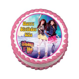 Shake It Up Round Edible Birthday Cake Image Topper Party Decoration