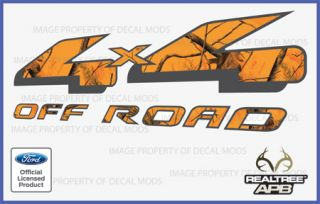 Ford 4x4 Off Road Decal Sticker Set APB Blaze Realtree Camo Camouflage