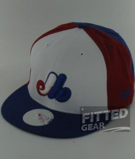 Block Red White Blue New Era 9Fifty Snapback Adjustable Hats Caps