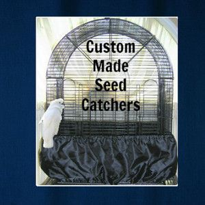 Small Bird Cage Seed Catcher Skirt Guard Solid Cotton Fabric Up to 70