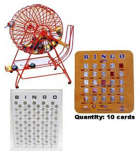 Professional Bingo Cage Set with Ping Pong Balls