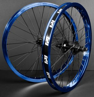 Revenge Complete Wheel Set Wheels Blue Black Front Back 9 Tooth