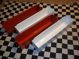 14 RED & WHITE DEEP DRAWER TOOL BOX TRAYS CHRISTMAS SPECIAL SNAP 2 USE